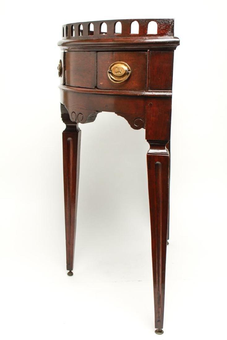19th Century Demilune Console Tables, Pair - 9