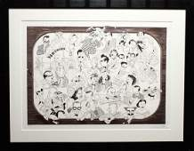 """Al Hirschfeld """"Me and the Set"""" Lithograph"""