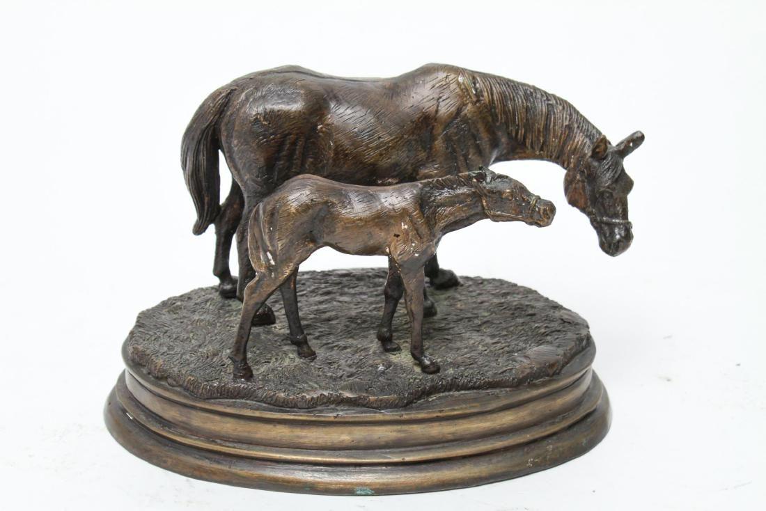 Pierre Jules Mene (after) Mare & Foal - Bronze