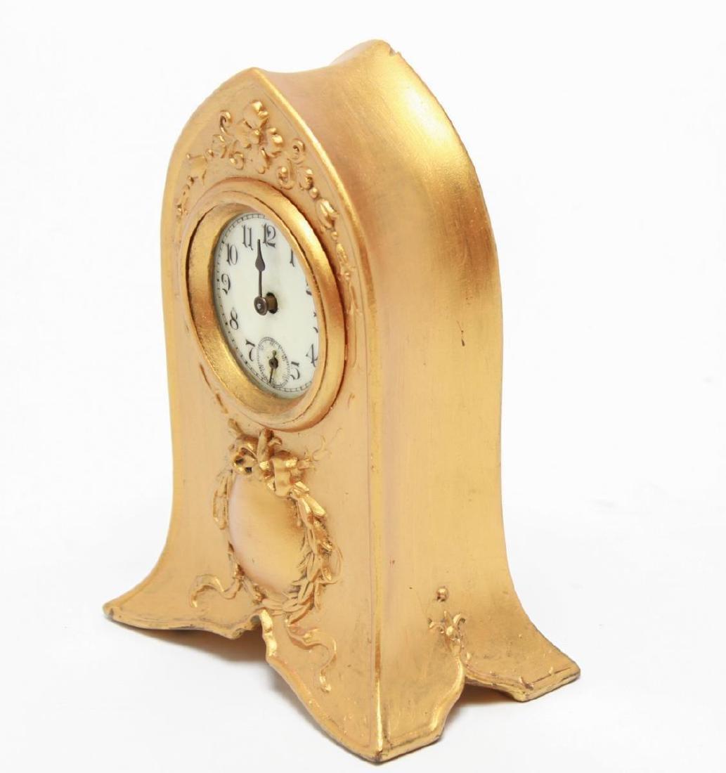 Gilt Brass Cathedral Mantel Clock, Vintage - 2