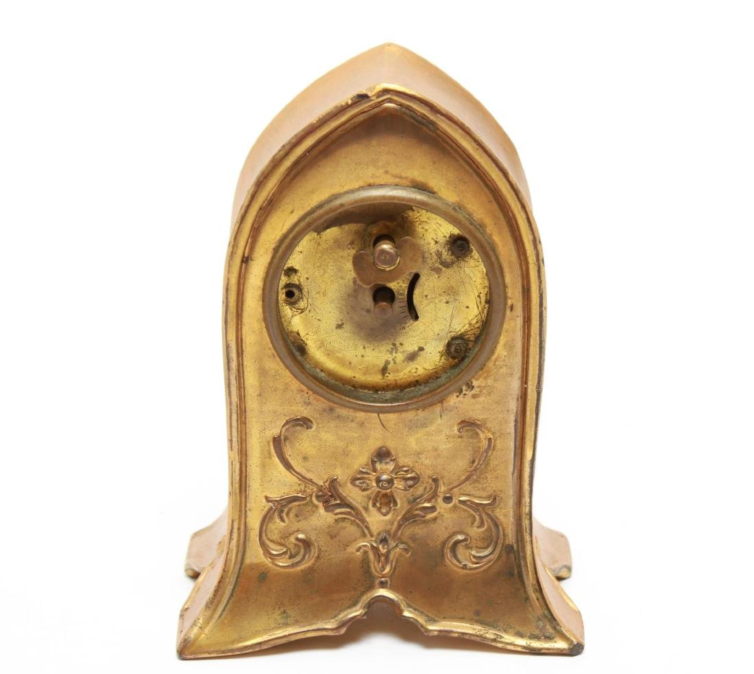 Gilt Brass Cathedral Mantel Clock, Vintage - 3