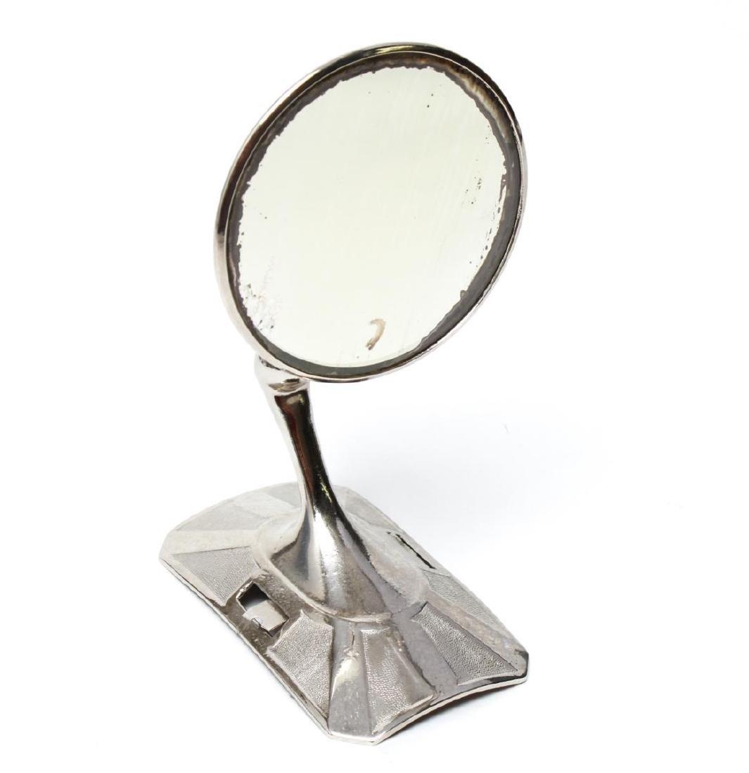 Art Deco Chrome Plated Automobile Mirror, 1931