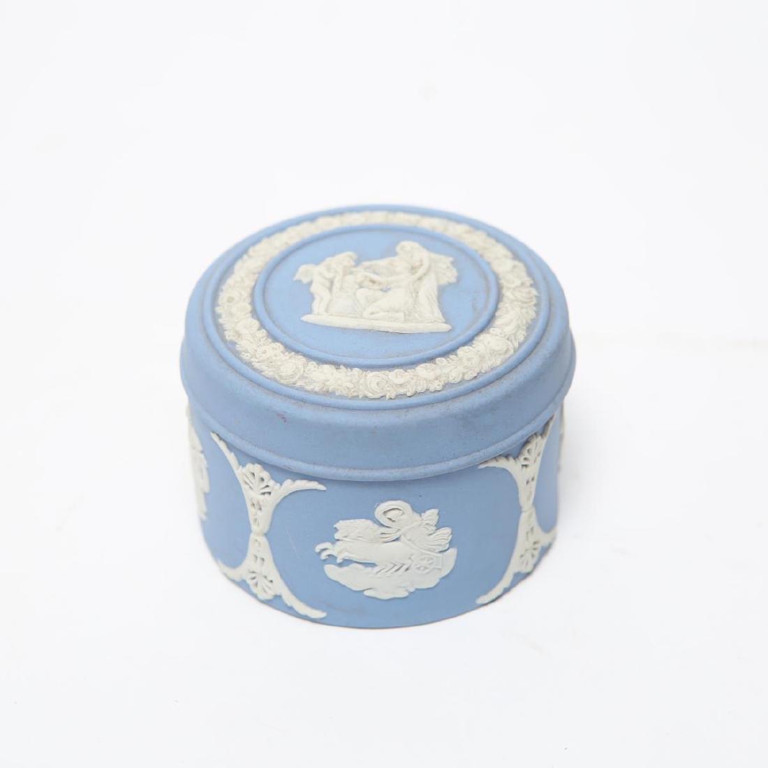 Wedgwood Green / Blue & White Jasperware Boxes, 5 - 2