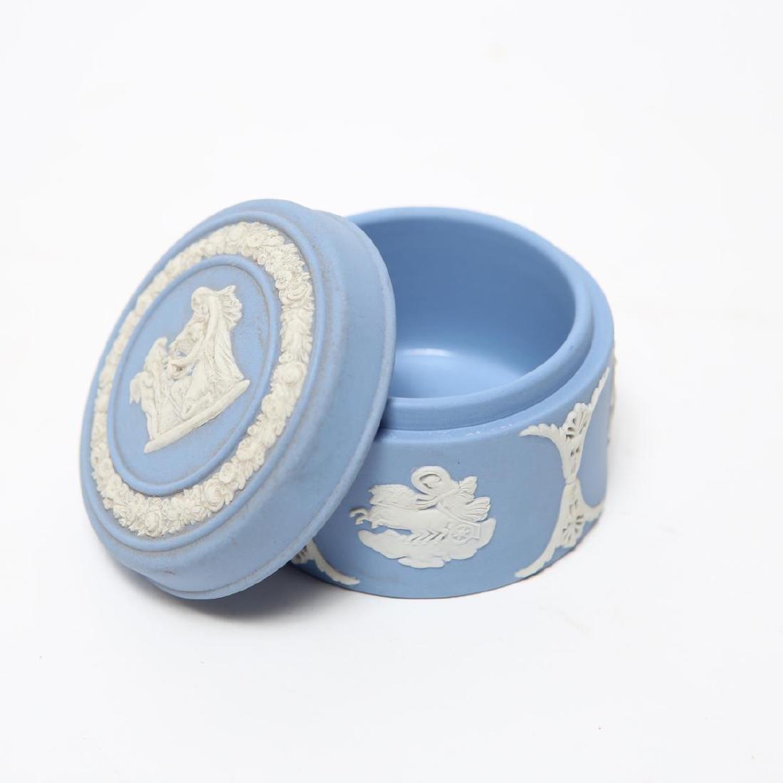 Wedgwood Green / Blue & White Jasperware Boxes, 5 - 3