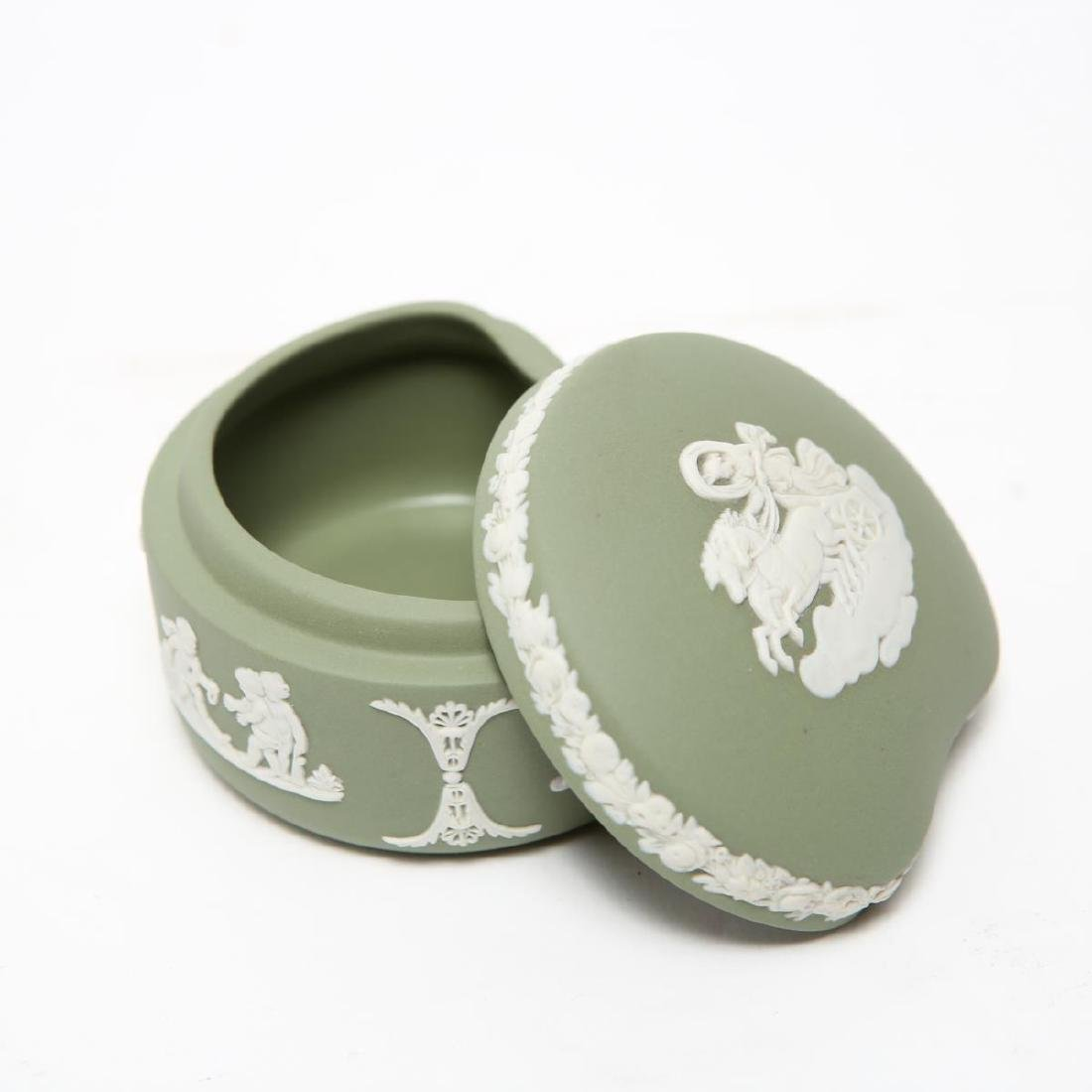 Wedgwood Green / Blue & White Jasperware Boxes, 5 - 4
