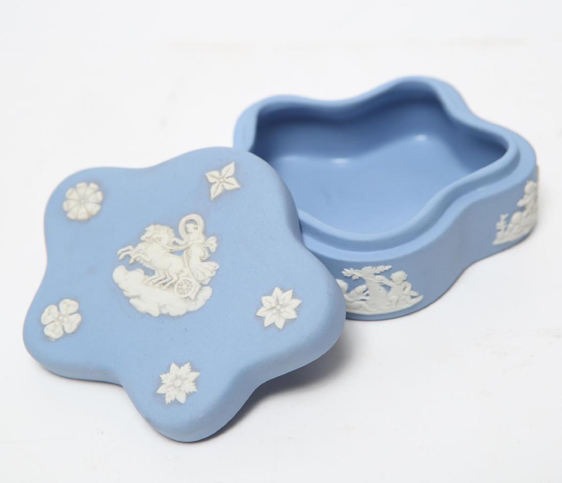 Wedgwood Green / Blue & White Jasperware Boxes, 5 - 6