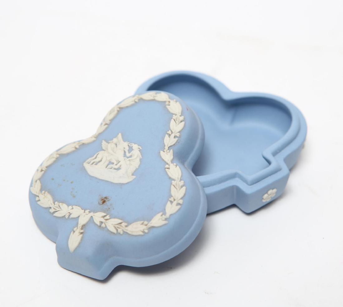 Wedgwood Green / Blue & White Jasperware Boxes, 5 - 7