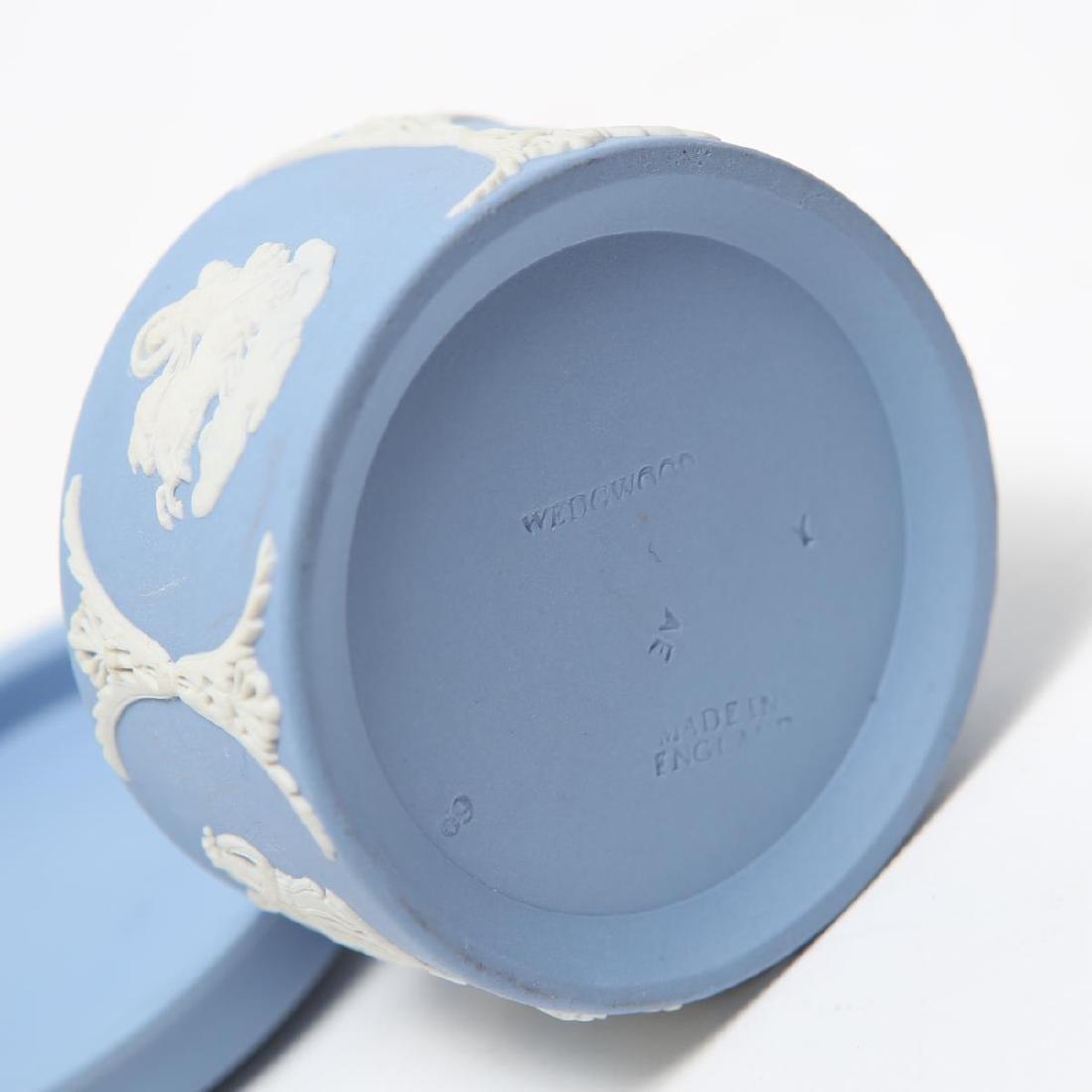 Wedgwood Green / Blue & White Jasperware Boxes, 5 - 8