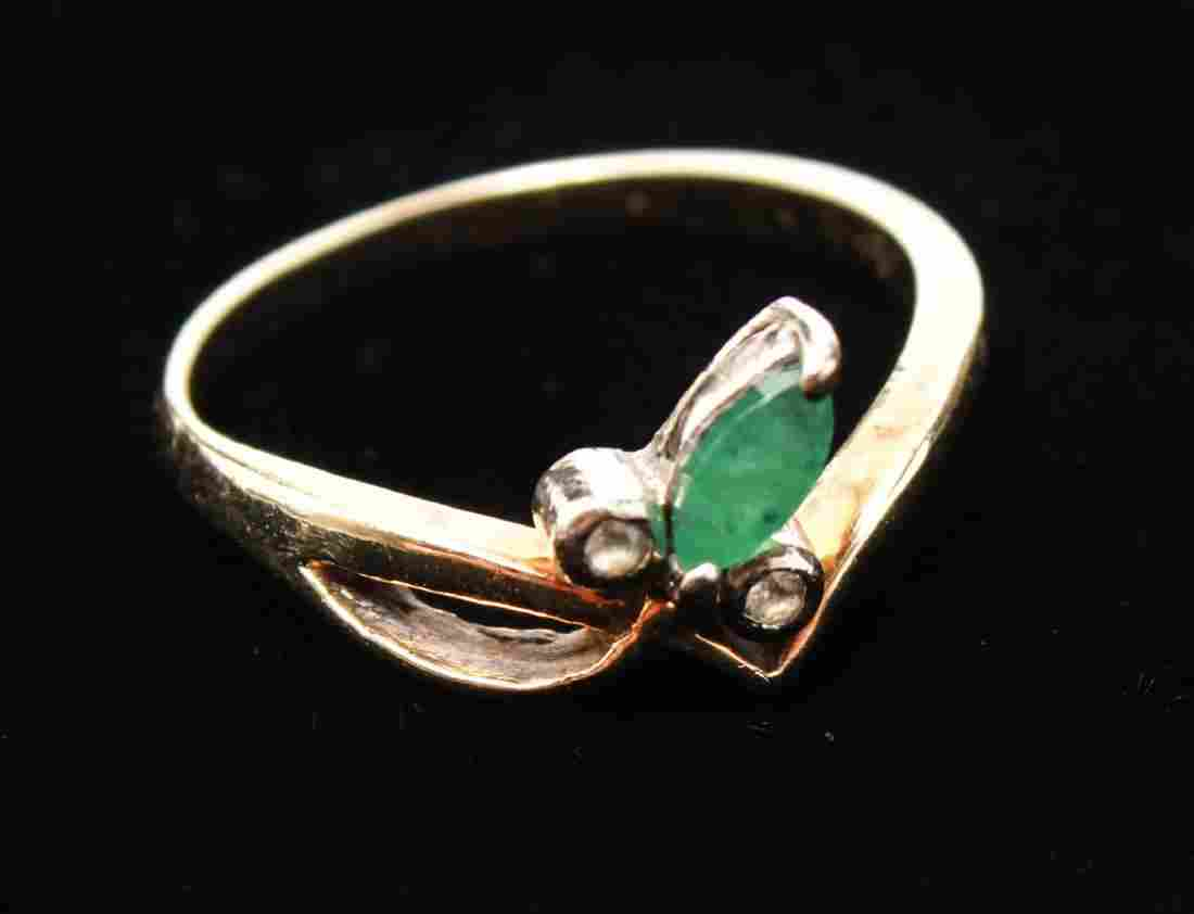 14K Spinels & Emerald Lady's Ring