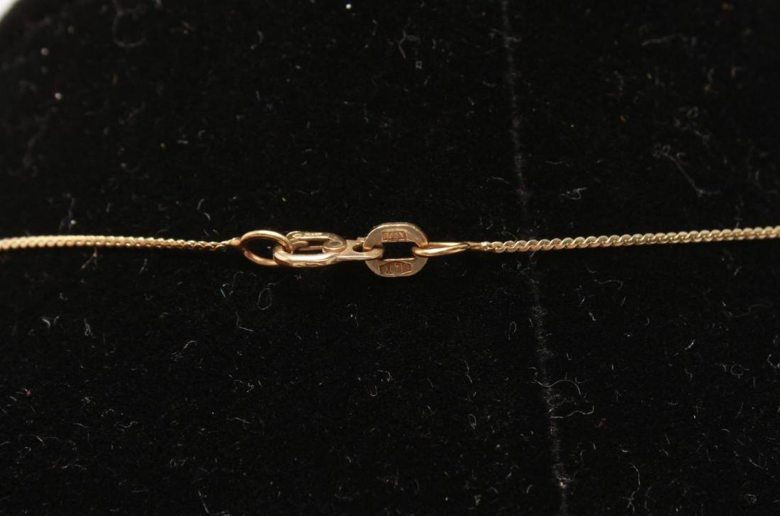 14K Gold V-Form Chevron Discs Pendant Necklace - 3