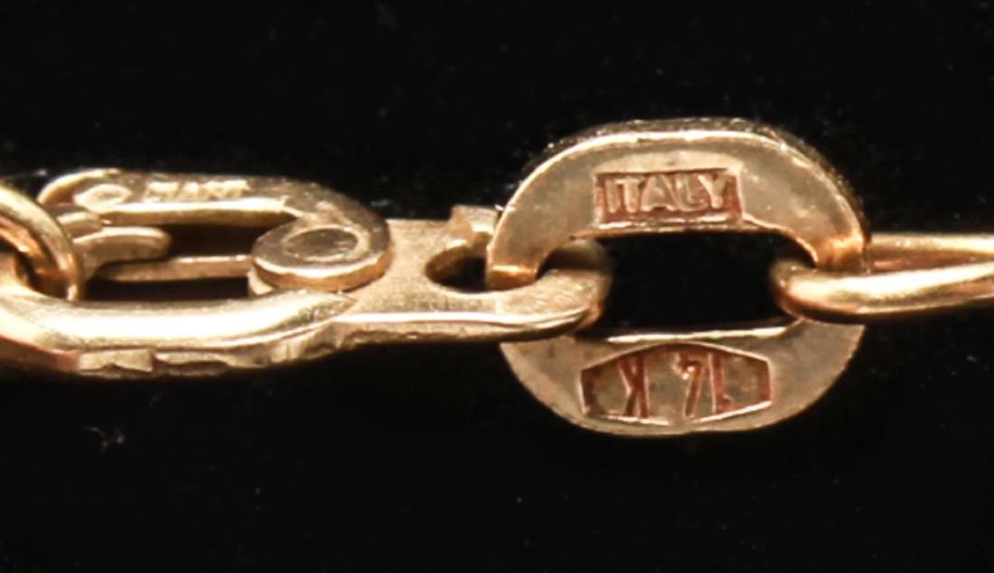 14K Gold V-Form Chevron Discs Pendant Necklace - 4