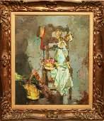 Françoise Adnet Les Artichaud Sechis Oil on Canvas