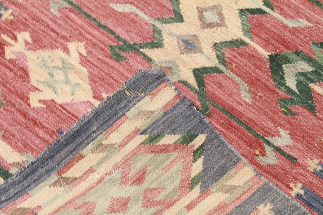 "Geometric Kilim Wool Rug 3' x 4' 11"" - 3"