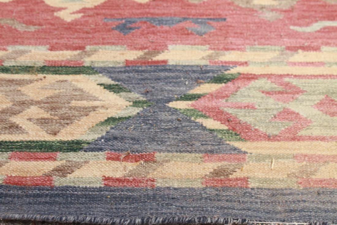 "Geometric Kilim Wool Rug 3' x 4' 11"" - 4"