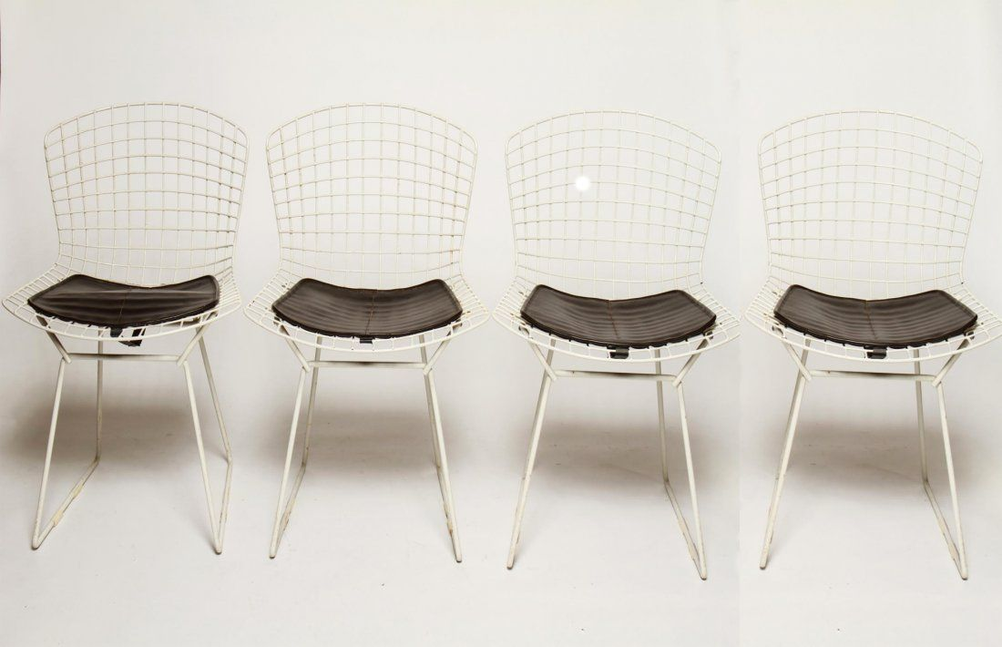 Harry Bertoia for Knoll Modern Wire Side Chairs, 4