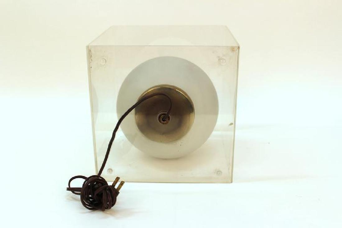 Round Encased Mid-Century Modern Table Lamp - 4
