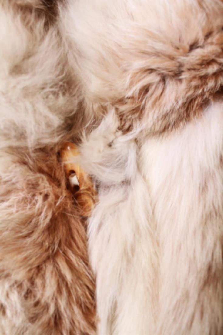 Long Blonde Fur Coat w Silk Interior - 2