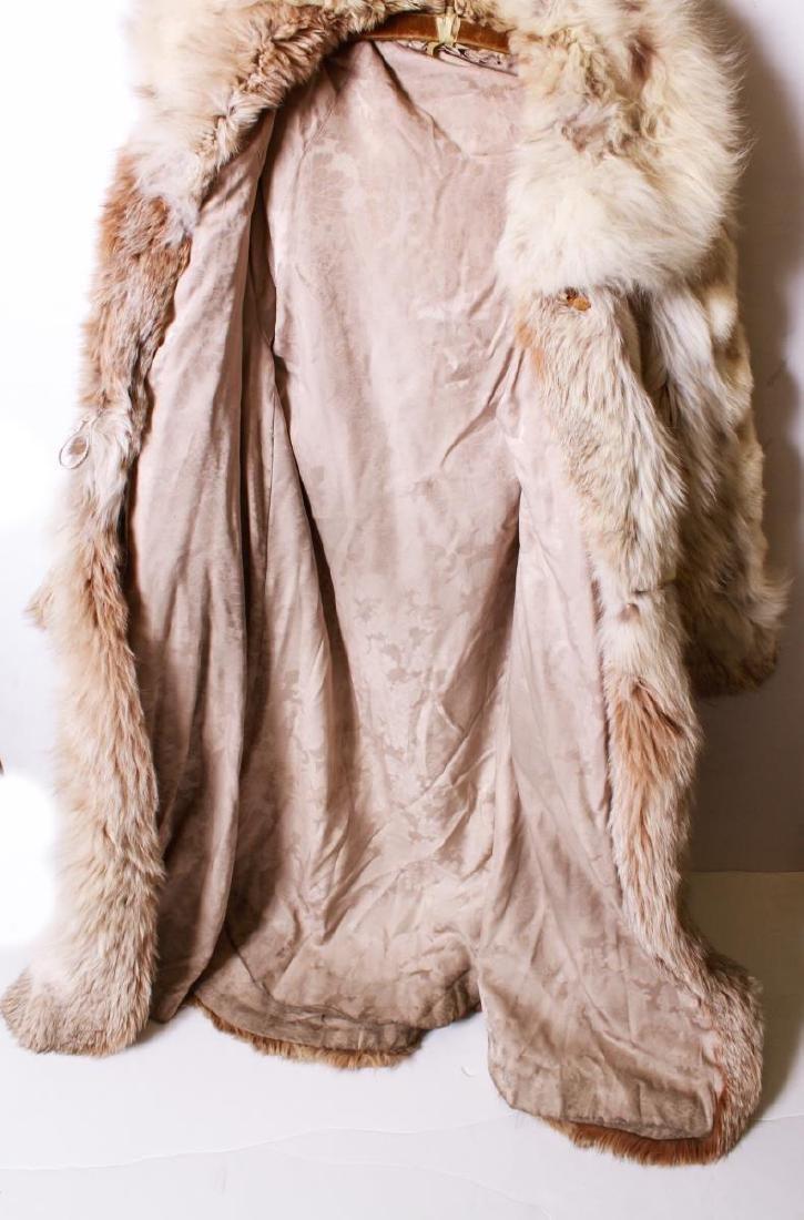 Long Blonde Fur Coat w Silk Interior - 4