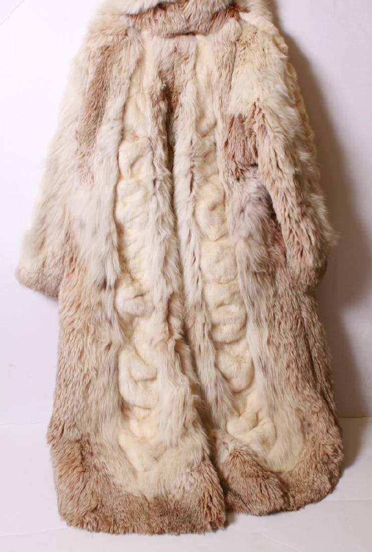 Long Blonde Fur Coat w Silk Interior - 6