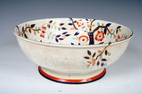 2: 19th C Gaudyware Paris Ceramic Centerpiece Bowl