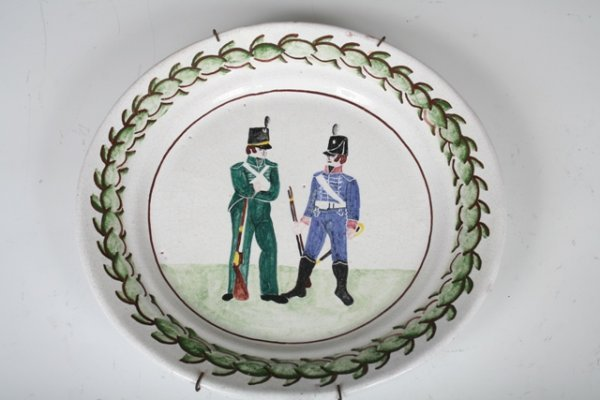 3: Early 19th C Portuguese Handpainted Ceramic Plate