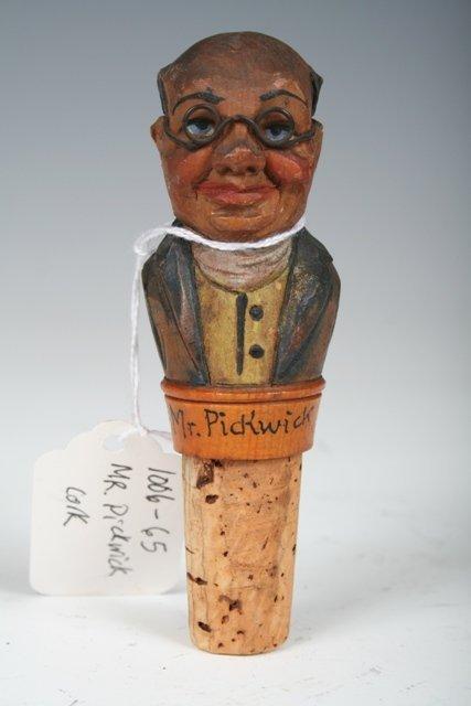 "8: Vintage ""Mr. Pickwick"" Wine Cork c1920"