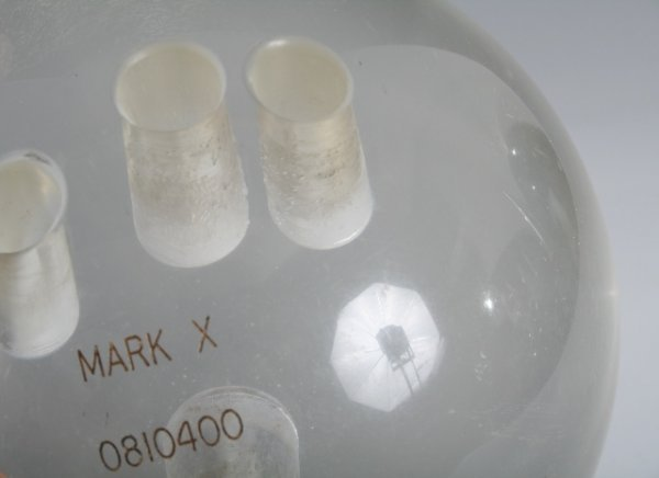 192: 20th C Clear Lucite Bowling Ball - 4