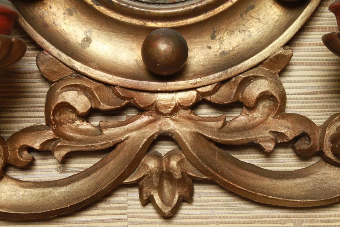 Continental Convex Mirror Sconces, Antique, Pair - 3