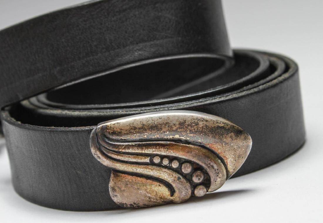 """""""Santa Fe"""" Sterling Silver Belt Buckle 4 Piece Set - 3"""