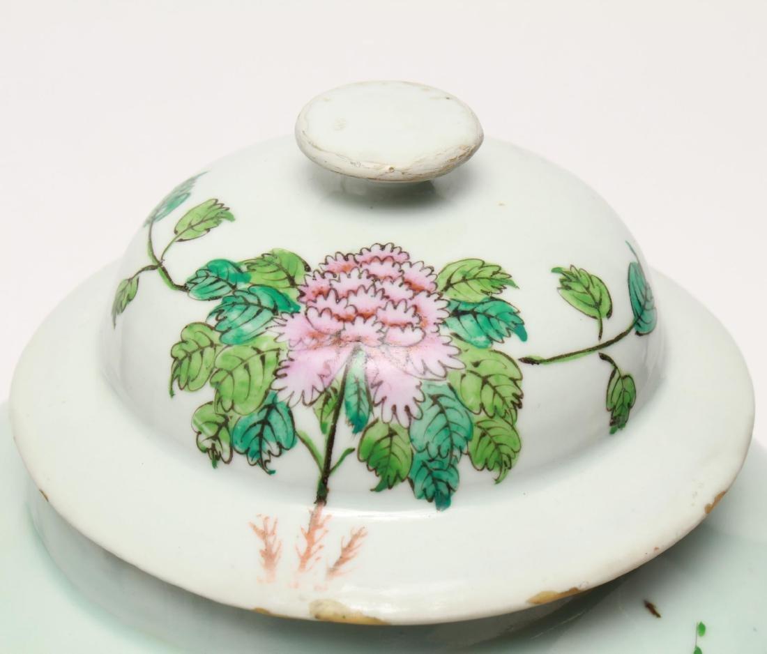 Chinese Famille Rose Baluster Ginger Jar w Lid - 4