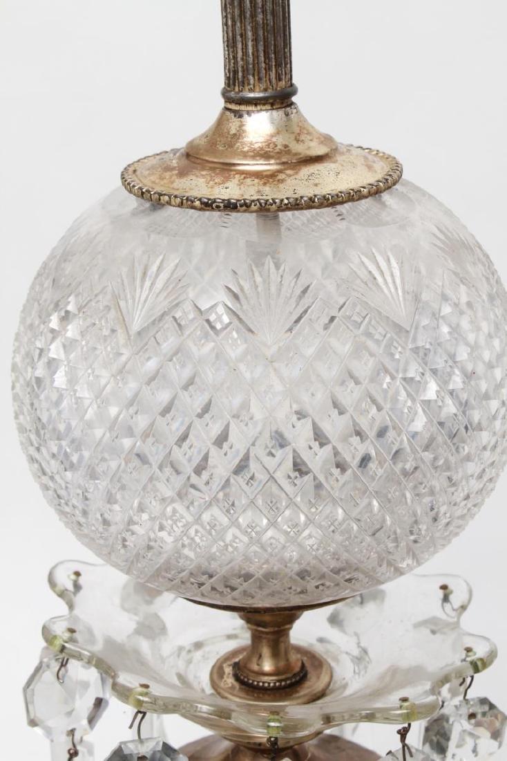 Hollywood Regency Cut Glass Prism Lamps, Pair - 6