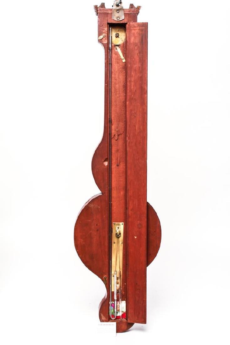 English Wheel Barometer, P. Balarini York, 19th C. - 5