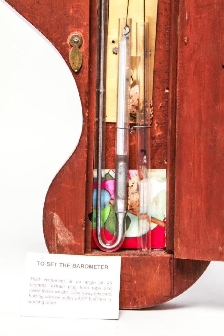 English Wheel Barometer, P. Balarini York, 19th C. - 6