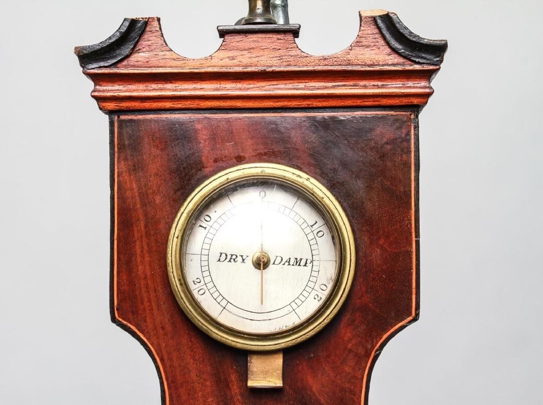 English Wheel Barometer, P. Balarini York, 19th C. - 9