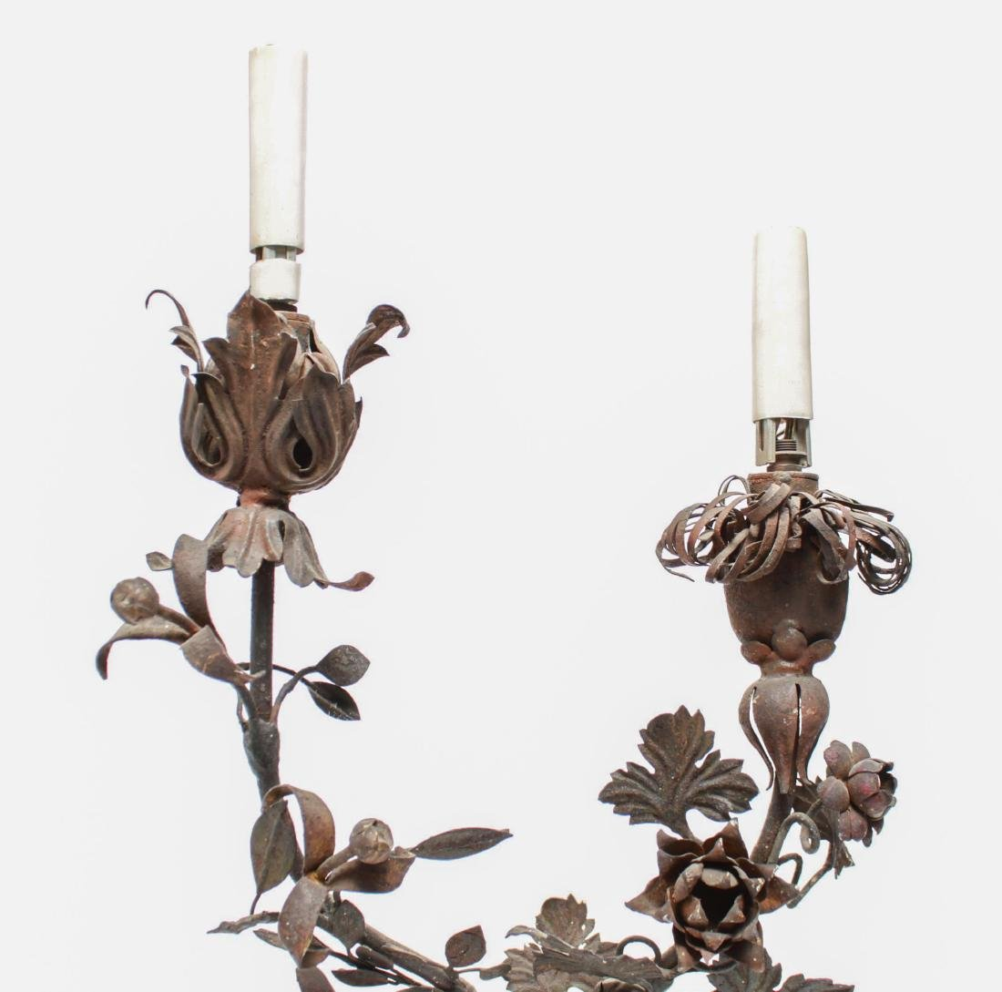 Regency Manner Painted Tole Wall Sconces, Pair - 7