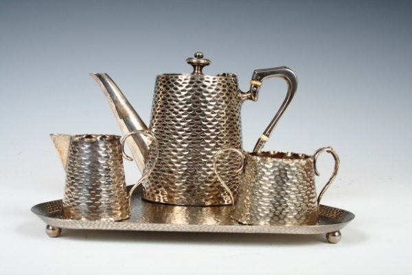 511: WMF Hand Hammered Silverplated Coffee Service
