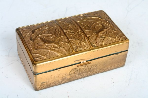 514: Painted Gold Metal Certina Watch Box