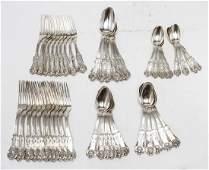 Tiffany  Co Silver English King Flatware Set 47
