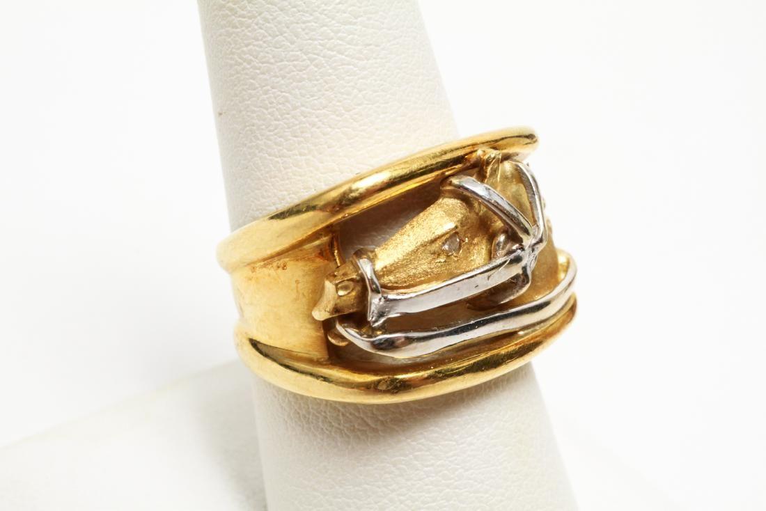 18K Gold Diamond Horse Ring Carrera y Carrera Box