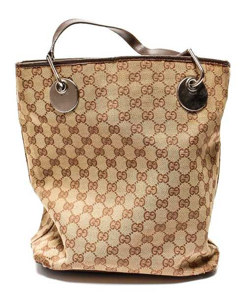 179b987b880d9a Gucci Women's Brown GG Canvas & Leather Tote Bag. placeholder