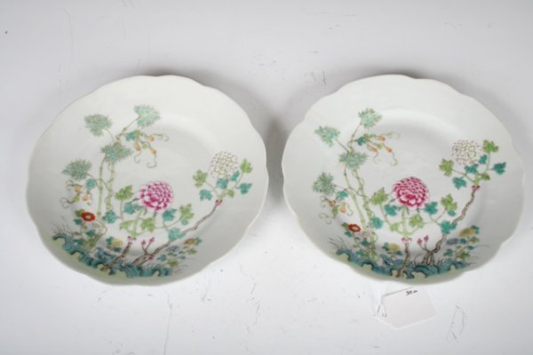 1007: Pair of 19th C Chinese Porcelain Plates