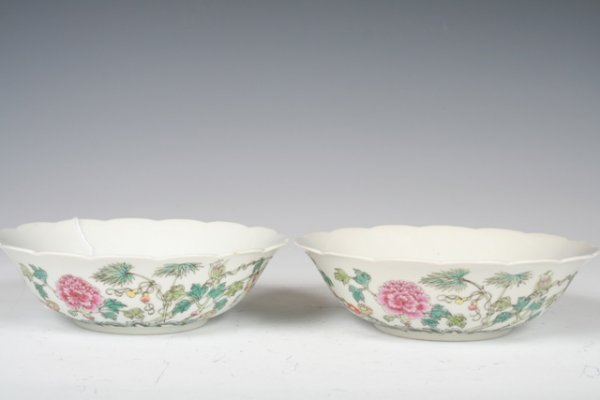 1009: Pair of Guang Xu Period Chinese Famille Rose Porc
