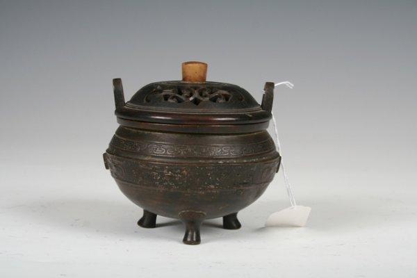 1010: 19th C Chinese Bronze Censor