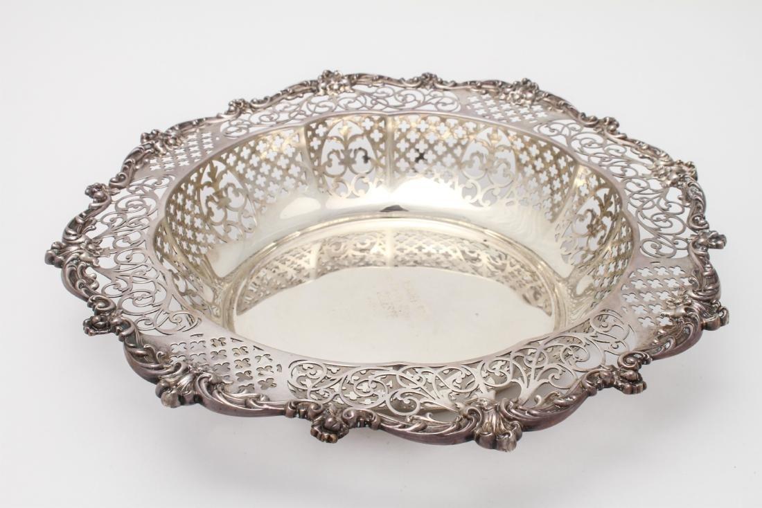 Gorham Sterling Silver Pierced Centerpiece Bowl
