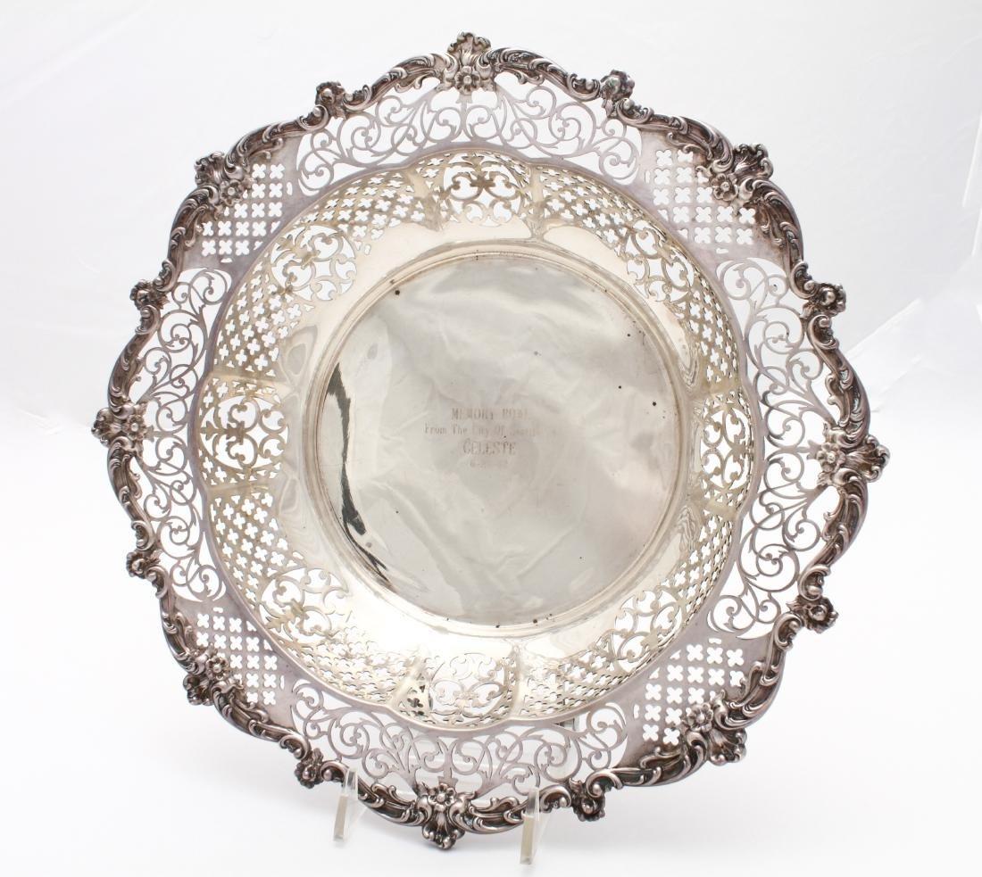 Gorham Sterling Silver Pierced Centerpiece Bowl - 3