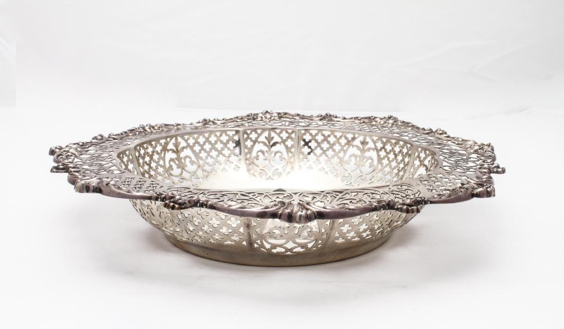 Gorham Sterling Silver Pierced Centerpiece Bowl - 5
