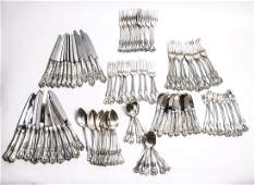 """Towle Silver """"Old Colonial"""" Flatware Service 107pc"""