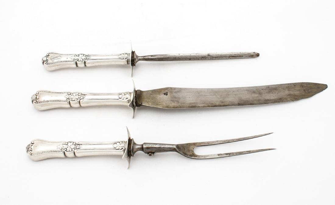 Gorham Sterling Silver Carving Set, 3 Pc. ca. 1885