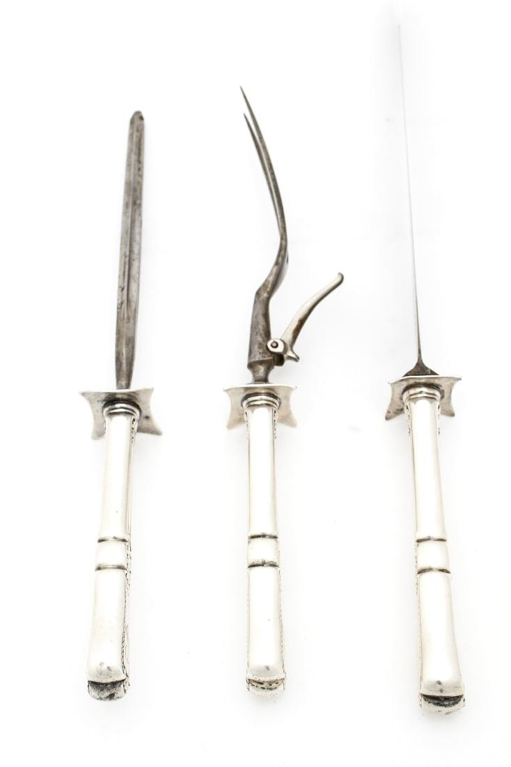 Gorham Sterling Silver Carving Set, 3 Pc. ca. 1885 - 5