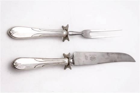 National Silver Overture Carving Knife Fork
